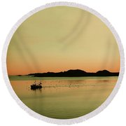 Sea After Sunset Round Beach Towel