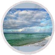 Sea And Sky - Florida Round Beach Towel by Sandy Keeton