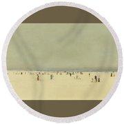Sea And Sky Round Beach Towel