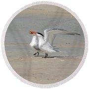Sea Bird Song Round Beach Towel