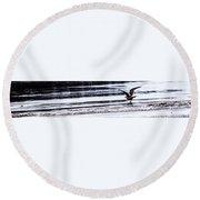 Sea Birds Round Beach Towel