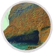 Sea Cave Round Beach Towel