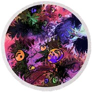 Sea Creatures Round Beach Towel