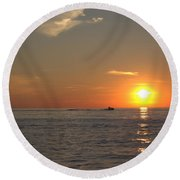 Sea Doo In To The Sunset Round Beach Towel