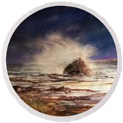 Sea Drama Round Beach Towel