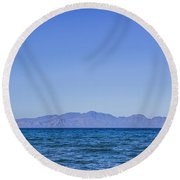 Sea, Earth, Sky Round Beach Towel