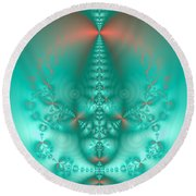 Sea Foam 2 Round Beach Towel