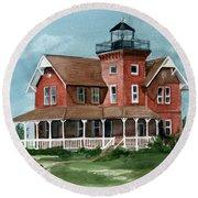 Sea Girt Lighthouse Round Beach Towel