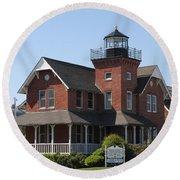 Sea Girt Lighthouse - N J Round Beach Towel