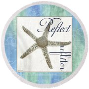 Sea Glass 3 Round Beach Towel