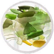 Sea Glass Round Beach Towel by Fabrizio Troiani