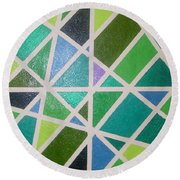 Sea Glass Revisited Round Beach Towel