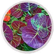 Sea Grape  Round Beach Towel