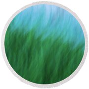 Sea Grass Breeze Round Beach Towel