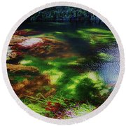 Sea Grass Round Beach Towel