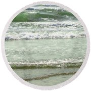 Sea Green Round Beach Towel