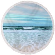 Sea Is Calling Round Beach Towel