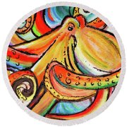 Sea Me Swirl Round Beach Towel