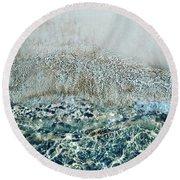 Sea Meets Sand Round Beach Towel
