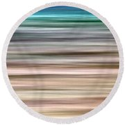 Sea Movement Round Beach Towel by Stelios Kleanthous