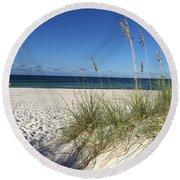 Sea Oats At The Beach Round Beach Towel