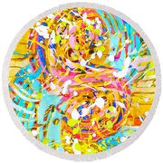 Sea Of Colors  Round Beach Towel