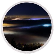 Sea Of Fog Round Beach Towel