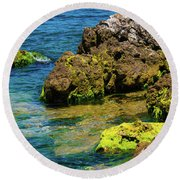 Sea Of Marmara Seashore Round Beach Towel