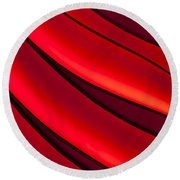 Sea Of Red Round Beach Towel