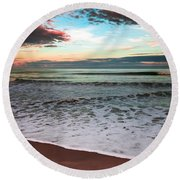 Sea Of Serenity Round Beach Towel