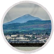 Sea Point And Sugar Loaf Mountain Round Beach Towel
