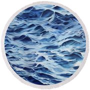 Sea Rhythms Round Beach Towel