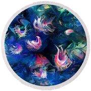 Sea Shells Round Beach Towel by Rachel Christine Nowicki