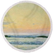 Sea Study Round Beach Towel by AS Stokes