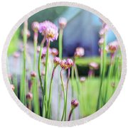 Sea Thrift Round Beach Towel