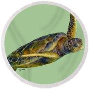 Sea Turtle 2 Round Beach Towel