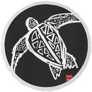 Sea Turtle Love Round Beach Towel
