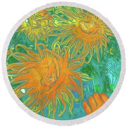 Sea Urchin 10 Round Beach Towel