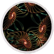 Sea Urchins Round Beach Towel