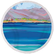 Sea View Galaxidhi Round Beach Towel