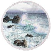 Sea Wave Round Beach Towel