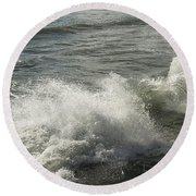 Sea Waves Round Beach Towel