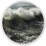 Sea Waves1 Round Beach Towel