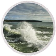 Sea Waves2 Round Beach Towel