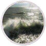 Sea Waves3 Round Beach Towel