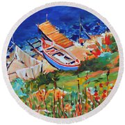 Seacoast Round Beach Towel