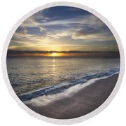 Seafoam Round Beach Towel