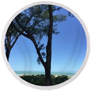 Seagrapes And Pines Round Beach Towel