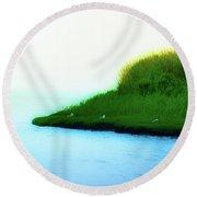 Seagull Island Round Beach Towel
