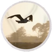 Seagull Sihlouette Round Beach Towel